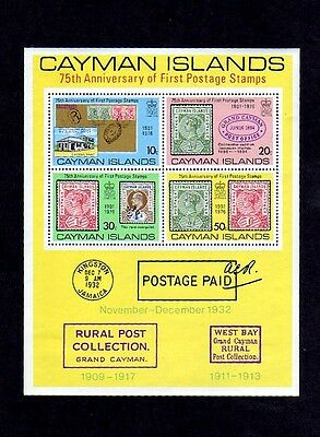 Cayman Is - 1976 - First Postage - Post Office - Stamps - Mint - Mnh S/sheet!