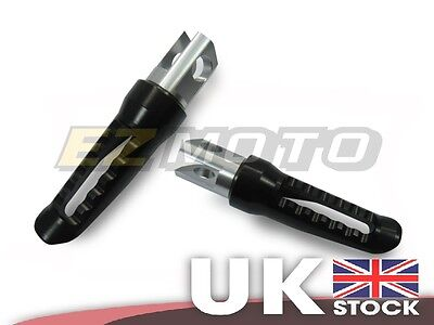 Front Rider CNC Footpegs Footrest Foot Rest Pegs Black fit Yamaha YZF R6 98-02