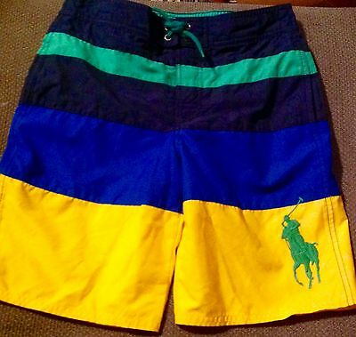 POLO RALPH LAUREN  BOY'S SWIM TRUNKS SWIMMING BATHING SUIT SIZE  S, M, or L