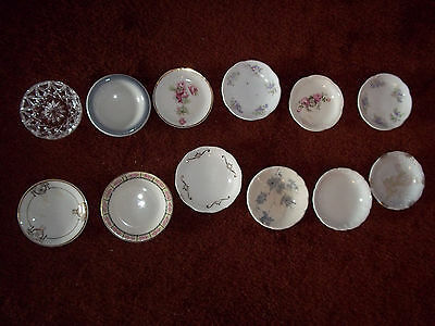 Lot of 12 Butter Pats Sterling Liverpool
