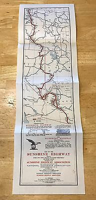 VTG. National Highways Sunshine Highway Map Canada to Mexico Western  U.S. 1915