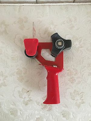 """Scotch 3M Packing Tape Dispenser 2"""" Handle Gun Red Used"""