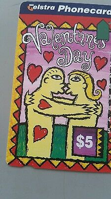 $5 1hole phonecard Valentines  day prefix 1074