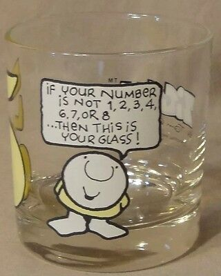 1977 Ziggy Your Lucky Number 5 Bar Drinking Glass Universal Press Tom Wilson