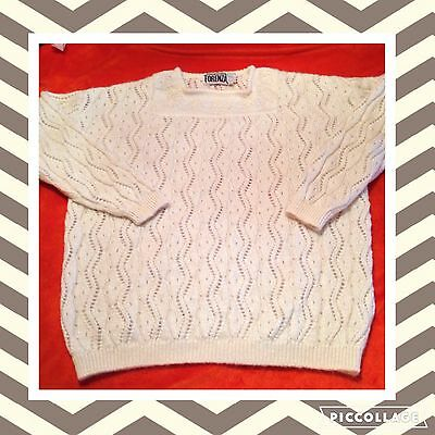 Vintage 1980s Forenza Cream Mohair Sweater XL