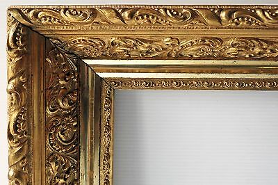"""Antique ORNATE GOLD PICTURE FRAME - 17"""" x 17"""" Rabbit"""