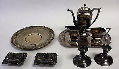 9 pieces of assorted Estate Silver Plate Grouping