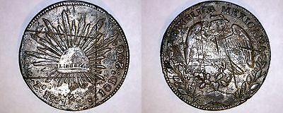 1881-Zs JS Mexican 8 Reales - Mexico - Suspected Class 1 Silver Unreal Reales
