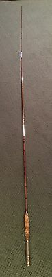"""5 Piece VINTAGE 9'-6"""" BAMBOO FLY ROD FISHING POLE UNMARKED """"Clean Cork"""""""