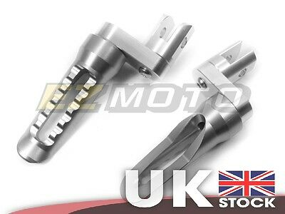 Front CNC Footpegs Footrest Raised Extend Silver fit Kawasaki Z800 2013-14