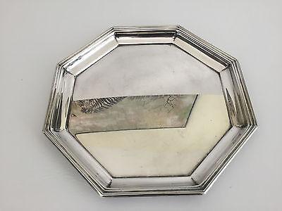 vintage WALLACE # 5003 silver plated serving tray 1960's 1970's