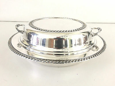 vintage silver plated covered serving dish EPC 5/36- 3 part insert 1930's