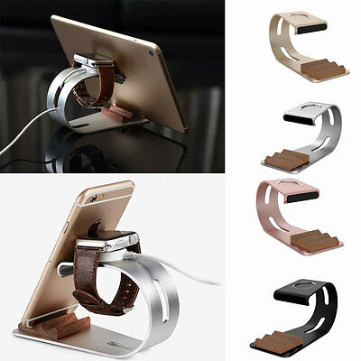 2 IN1 Luxury Bracket Display Dock Charging Stand Holder for Apple Watch iPhone
