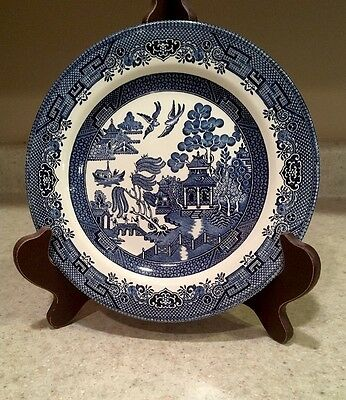 """Vintage Churchill England Blue Willow Dinner Plate 10.25"""" GUC"""