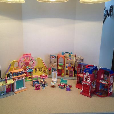 Fisher Price SWEET STREETS LOT CARNIVAL SCHOOL APARTMENT BUILDING / STORE + MORE