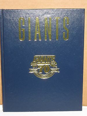 NY Giants Autograghed Book by Rodney Hampton  70 Yrs of Championship Football