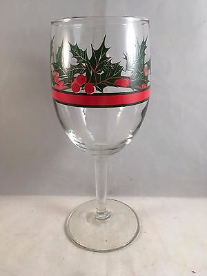 Libbey, Holly & Berries, Water Goblet