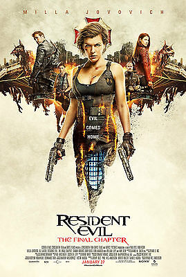 """Resident Evil: The Final Chapter  :  Movie 27""""x40"""" HI-RES POSTER VINYL"""