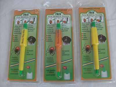 TICK LASSO Lot of 3 BEST Tick Remover's  Trix Tick Remover