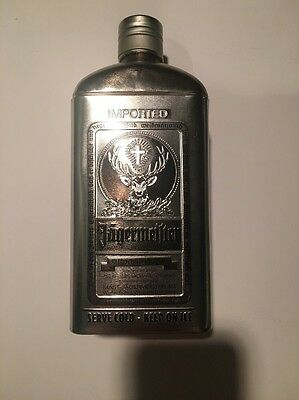 New Jagermeister Bottle Case Silver Tin Rare Collectors Edition 0.75L