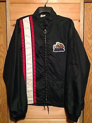 "Vintage 70s Racing jacket nylon windbreaker ""Hijacker Shocks"" Muscle Car sz L"