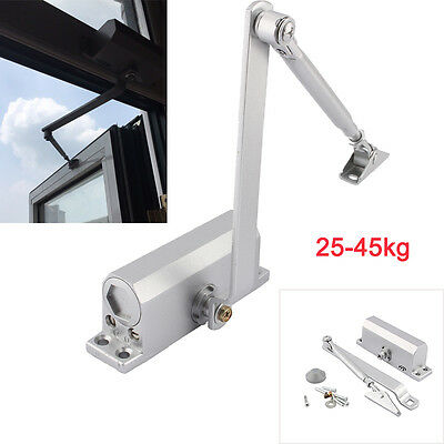 25-45KG Aluminum Commercial Door Closer Two Independent Valves Control Sweep USA