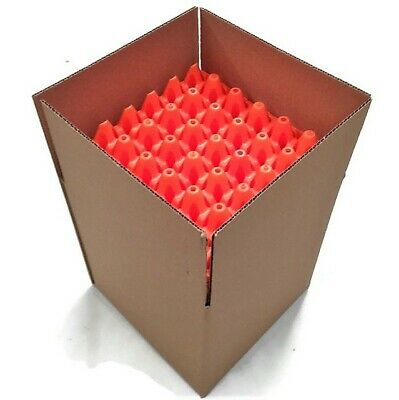 """20 x STACKABLE """"ORANGE"""" PLASTIC EGG TRAYS with FREE POSTAGE (HOLDS 600 EGGS)"""