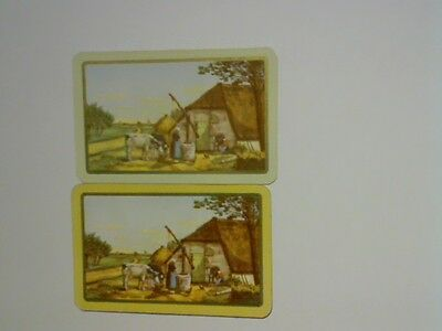 """2 Single Swap/Playing Cards - Pair Named """"Old Flemish Farm""""#"""