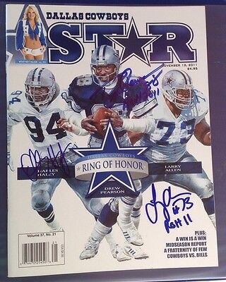 Class Of 2011 DALLAS COWBOYS Ring Of Honor HoF AUTOGRAPHED Signed Magazine Mag