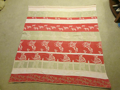 Vintage Roy Rogers Blanket Bedspread Throw 1950s Western Trigger RARE COLORS HTF