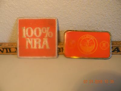 Vintage Nra Belt Buckle And Patch { Meeting Giveaway }