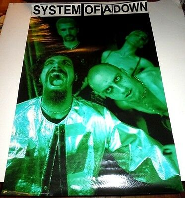 SYSTEM OF A DOWN~24x36~Original Promo Poster~Excellent Condition~1998