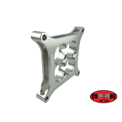 "CUBE Speed- Holley carby carb tapered spacer silver 1"" billet suit super sucker"