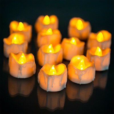 Hot Yellow Flicker Plastic Electric Candles Flameless Tea Lights Wedding Decor
