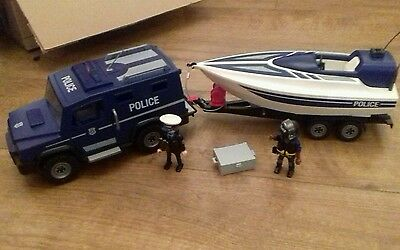 Playmobil Police Truck and Speedboat - set 5187
