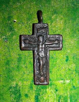Medieval period Bronze Cross Pendant.