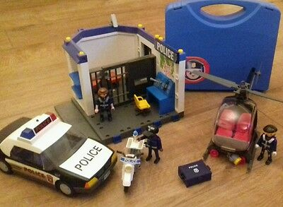 bundle of playmobil police toys