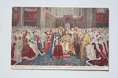 Postcard of the coronation of Queen Mary and King George V