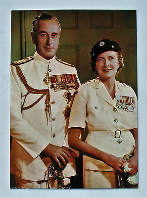 Postcard of Lord and Lady Mountbatten