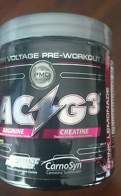 Pmd Pre Workout Ac-G3 Pink Lemonade 60 Servings Dietary Supplement+ Free Singlet