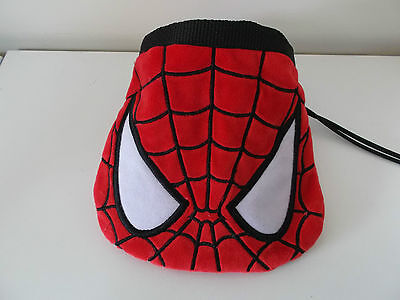 Rock Climbing Chalk Bag made from a child's plush toy bag - Spiderman