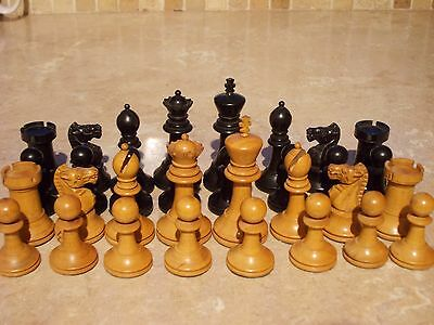 Finest Superbly Detailed Antique Wooden Chess Set Felted