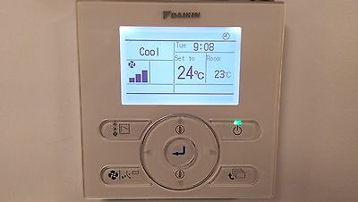 Daikin Air Conditioning Controller - BRC1E52A7 - LCD wired NEW TYPE