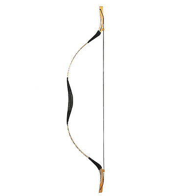 Newest Handmade Archery Chinese Manchu Bow White Snakeskin Hunting Bow 20-80lb