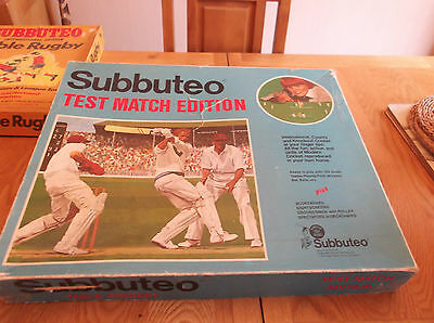 Subbuteo Cricket Sets, Test Match & Club Edition's, Job Lot, Spares or Repair