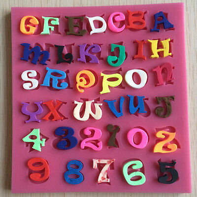 Numbers And Letters Alphabet Silicone Fondant Cake Molds Mould Decorating Tools