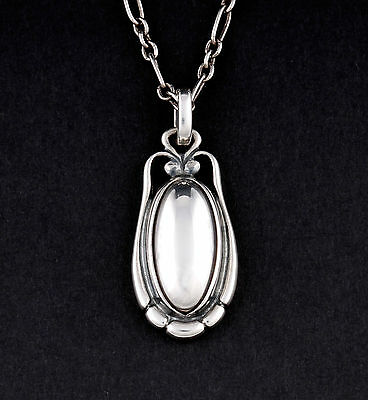 GEORG JENSEN Sterling Silver Pendant Of The Year 2009 w. Silverball. NEW IN BOX.