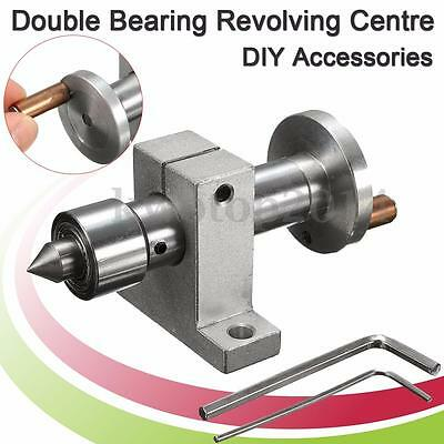Double Bearing Live Center Revolving Centre + Wrench For Mini Lathe DIY Parts