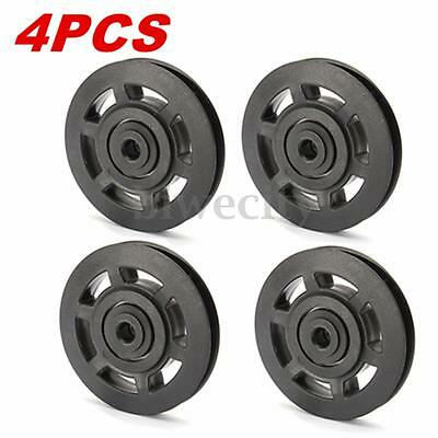 4Pcs 95mm Universal Bearing Pulley Wheel Cable Gym Equipment Part Wearproof Tool