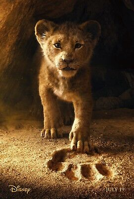 """Disney's LION KING 2019 Advance Teaser DS 2 Sided 27x40"""" US Movie Poster Glover"""